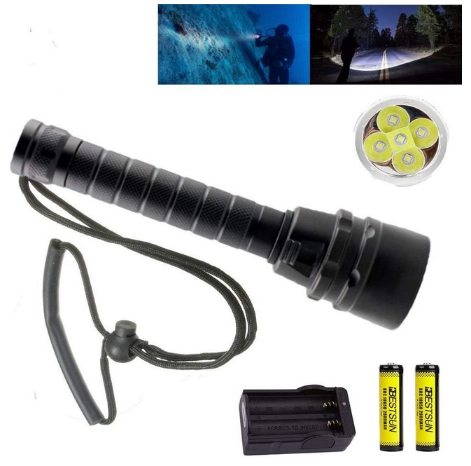 BESTSUN Diving Flashlight, 5XLED