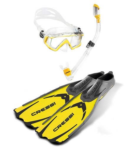 Cressi Mask Snorkel and Fin Set