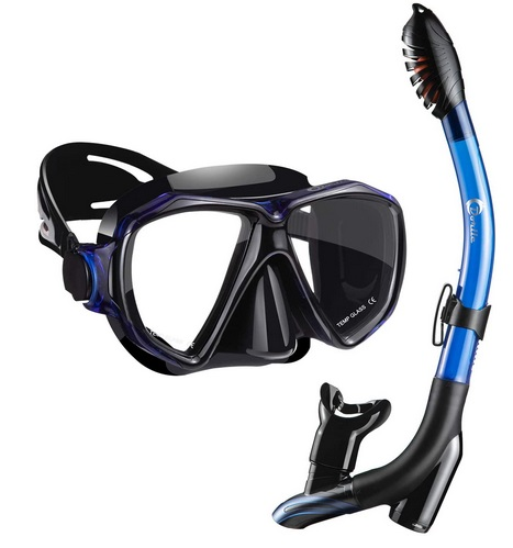 Dorlle Mask and Snorkel Set Dry Snorkel