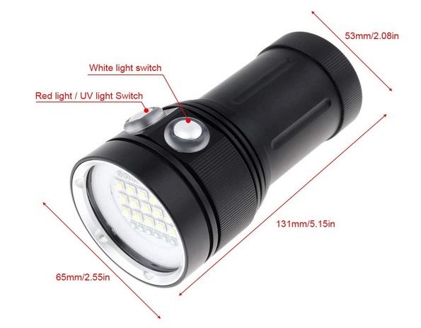 SecurityIng Scuba Diving Video Flashlight